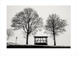 Bushaltestelle Beerfelden im Winter - Photo: Frank Schindelbeck