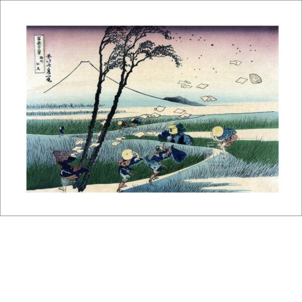 Hokusai - Ejiri in der Suruga Provinz - Reproduktion Schindelbeck Art