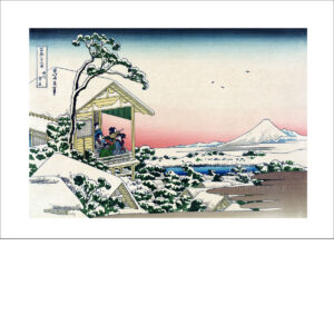 Hokusai - Fuji im Winter - Reproduktion Schindelbeck