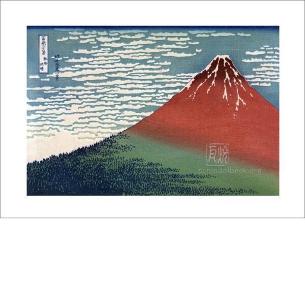 Hokusai - Fuji von Kanaya, Tokaido - Reproduktion Schindelbeck