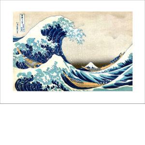 Hokusai - Welle Kanagawa - Farbholzschnitt - Reproduktion