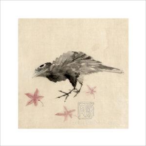 Hokusai - Vogel - Reproduktion Schindelbeck Art