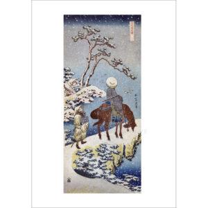 Hokusai - Zwei Reisende - Schindelbeck Art