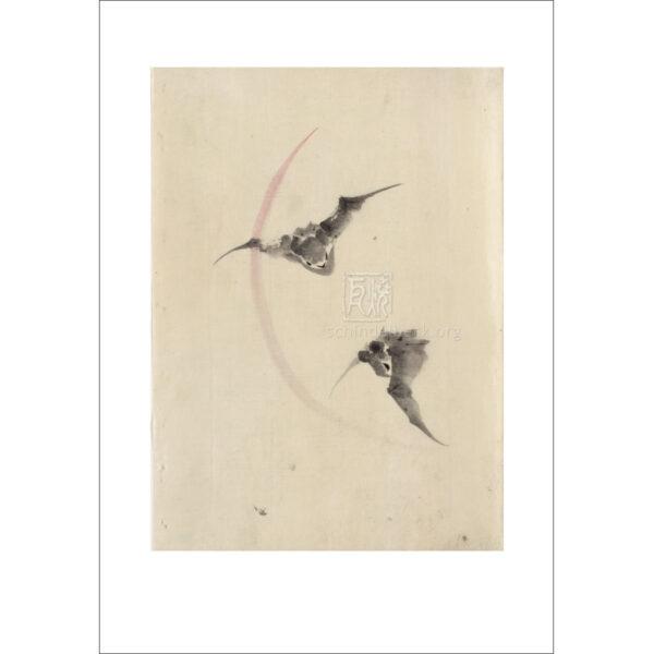 Hokusai - Zwei Fledermäuse - Reproduktionen Schindelbeck Art