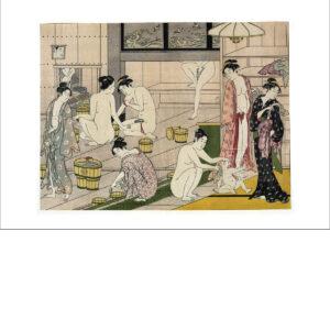 Kiyonaga Torii - Onna yu (Badehaus der Frauen) - Reproduktion Schindelbeck Art