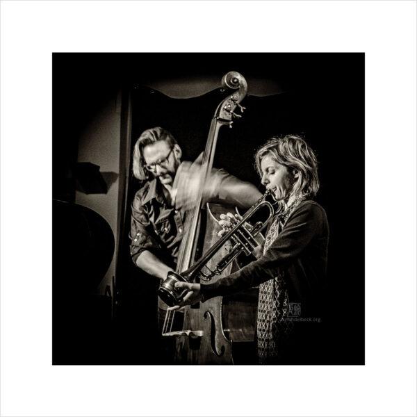 Lina Allmano, Christian Weber - Photo: Frank Schindelbeck Jazzfotografie