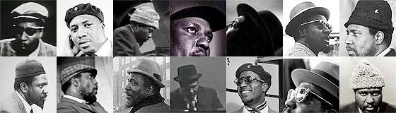 Thelonious Monk und seine Kopfbedeckungen....