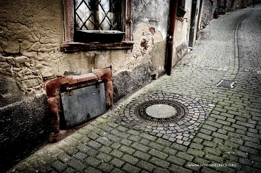 Neckarsteinach, Blick in eine Gasse - Foto Schindelbeck